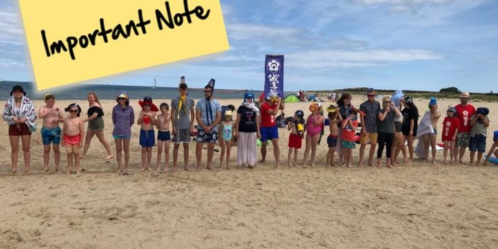 Beach Training – IMPORTANT UPDATE
